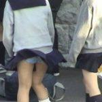 女子●生の制服のスカートってさ、なんであんなデザインなん?風パンチラに弱すぎだろwww